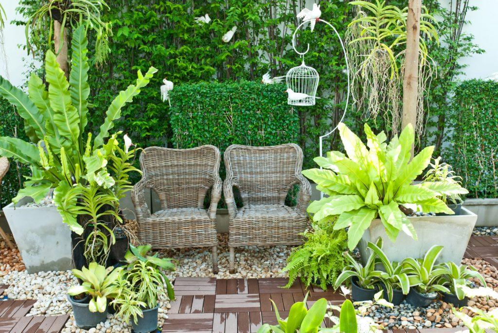 laurel-hill-gardens-wooden-chair-in-the-small-garden
